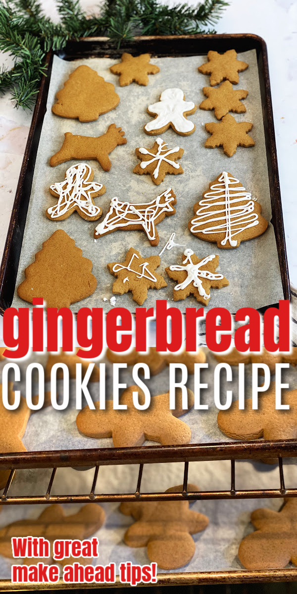 Hands down the best Gingerbread Cookie recipe. This turns out perfect every time love the icing too. Great tips for making ahead and storing the cookies
