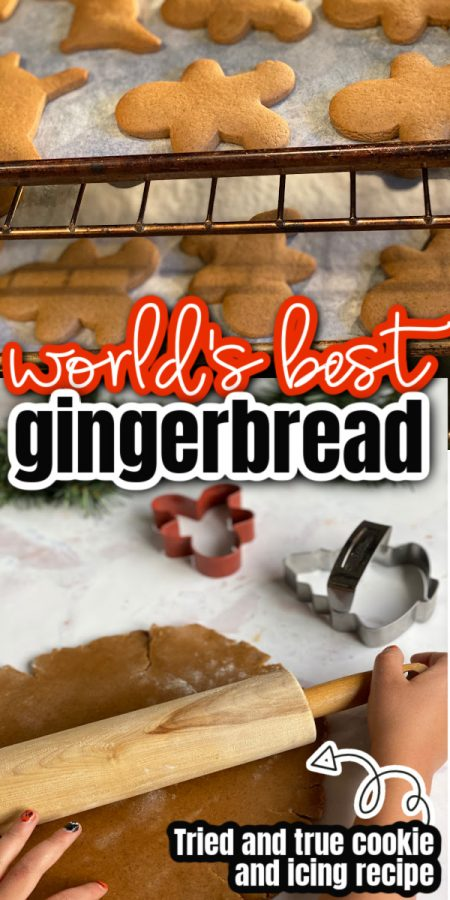 gingerbread man cookies in oven and dough