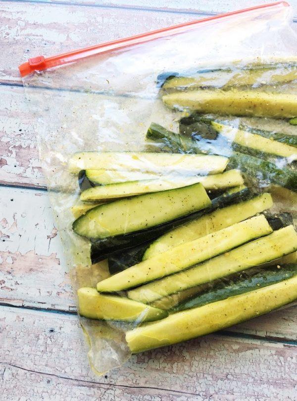 bag of marinated zucchini