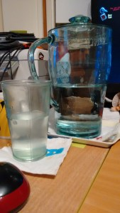 My attempts at clever are currently failing, so have a picture of my water pitcher