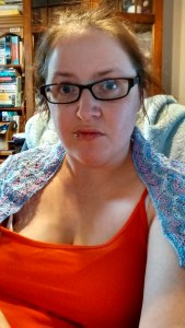 Cute and slightly chilly -- shawl time!