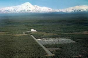 Batería de antenas HAARP en Alaska