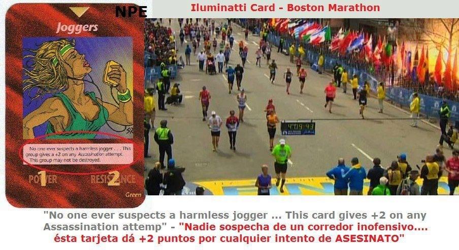 atentados maratón de Bostón, castas illuminati, posible operacion bandera falsa