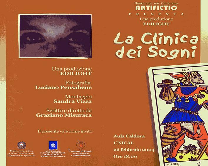 LA CLINICA DEI SOGNI, regia di Graziano Misuraca