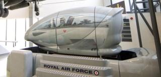 Our simulator in the Museum's Milestones of Flight Gallery