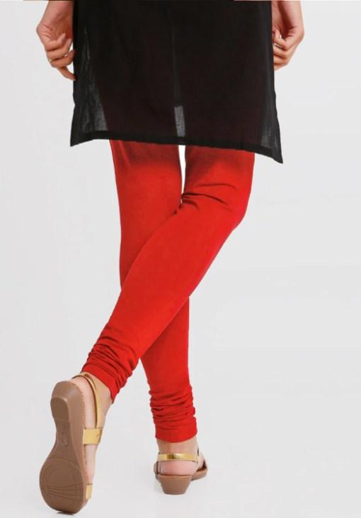 Buy Red Cotton leggings Online at low Price at RagaFab