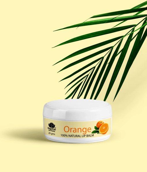 Natural Orange Lip Balm 100% Organic