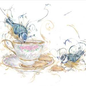 Tea For Two – Mounted Printed By Aaminah Snowdon