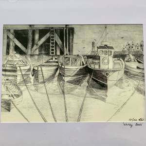 'Whitby Boats' Limited Edition Print