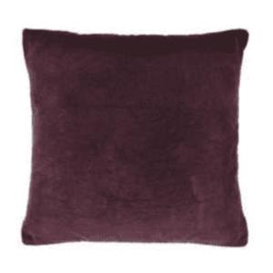 Large Velvet Cushion Feather Fill – Aubergine