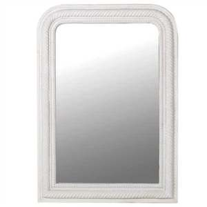 Large White Curved Corner Mirror