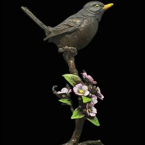Blackbird With Blossom – Richard Cooper Limited Edition Bronze