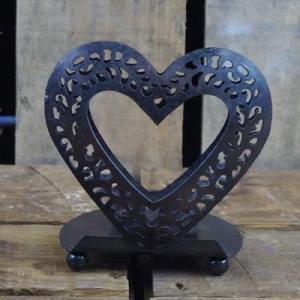 Copper Heart Tealight Holder