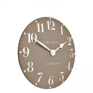 Thomas Kent 12″ Arabic Wall Clock – Clay