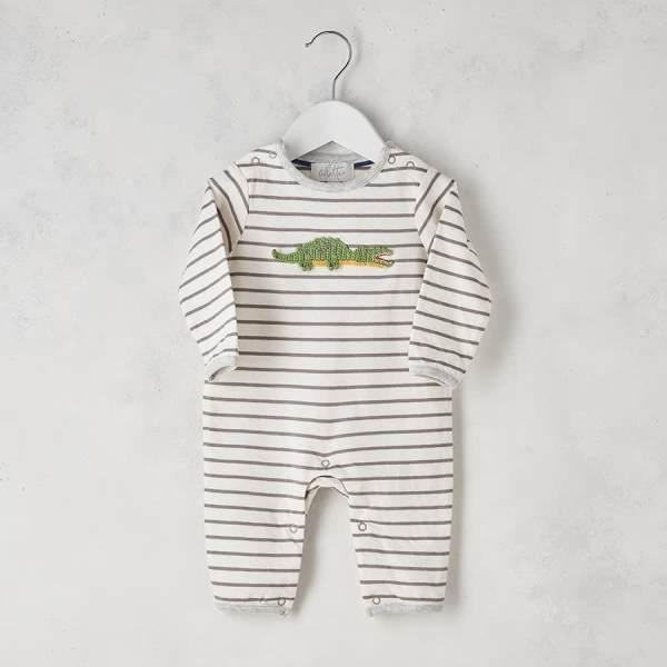 Crochet Croco Babygrow 0-3