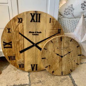 Handmade Solid Wood Clock 60cm