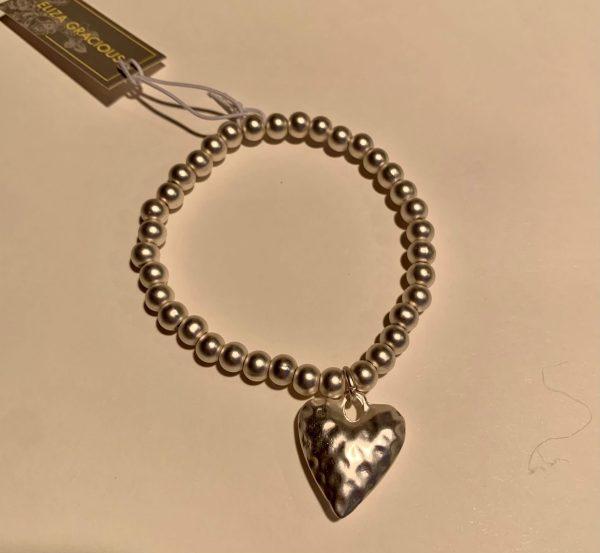 Beaten Heart Charm Bracelet