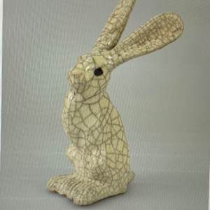 Paul Jenkins Raku Hare Small