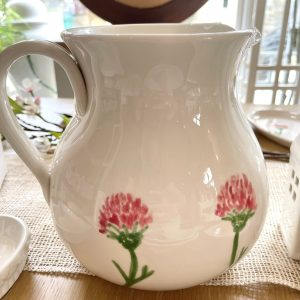 Hand-painted Red Clover Jug