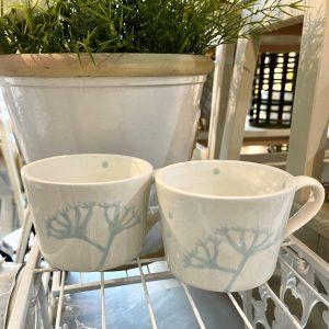 Hand-painted Coffee Mug – Baby Blue