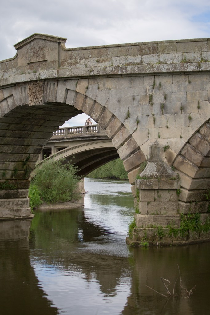 Bridge over the river at the Mytton and Mermaid