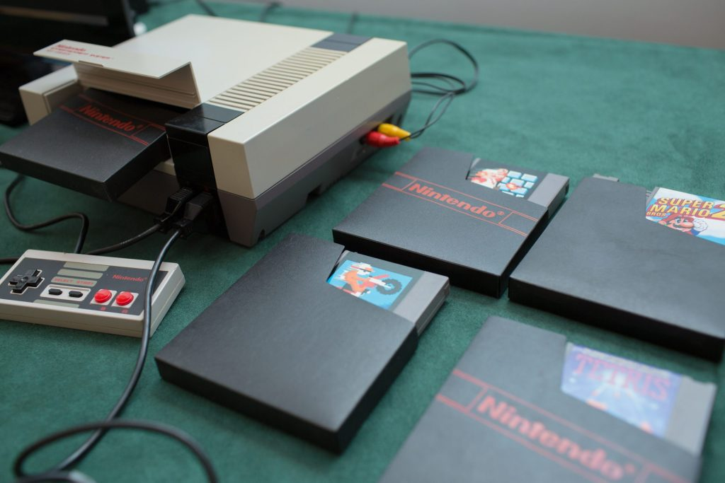 nes and games at wedding reception
