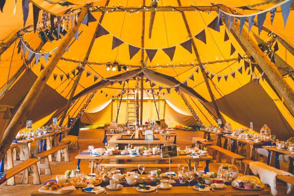 tipi wedding in Devon