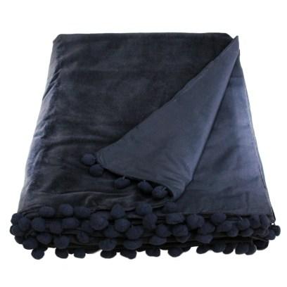 black velvet throw