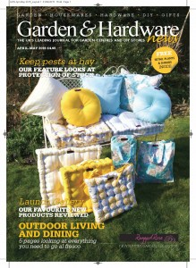 Ragged Rose on the front cover of Garden Trade magazine