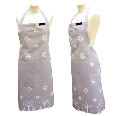 Christmas Taupe/beige Apron from ragged rose