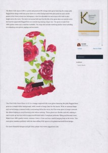 Sloan magazine oven glove ragged rose