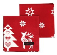 Red Christmas Star Napkins (Pack of 4)