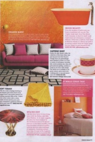 Period Ideas October 2016 yellow throw ragged rose