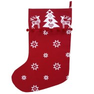 Red Christmas Star Stocking