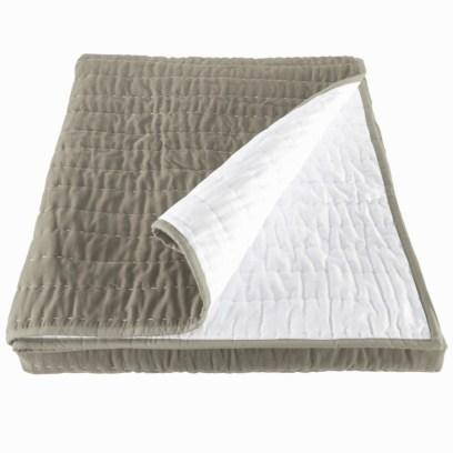 opal silver grey velvet bedspread