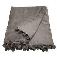 silver grey velvet throw