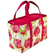 Tasha Tote Bag White Pink Rose