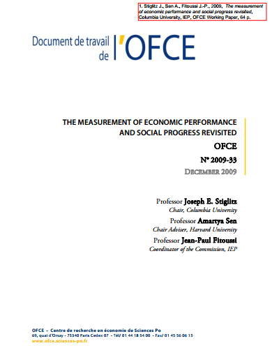 The Measurement of Economic Performance and Social Progress Revisited