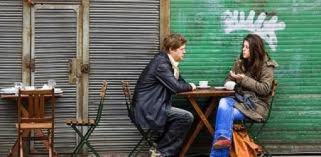 talking over coffee