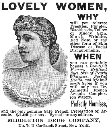 Arsenic advert