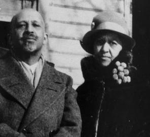 Dr Wiliam Du Bois with Nina Gomer