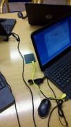 The small square mobile internet modem