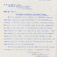 Letter From Secretary of Edinburgh Settlements