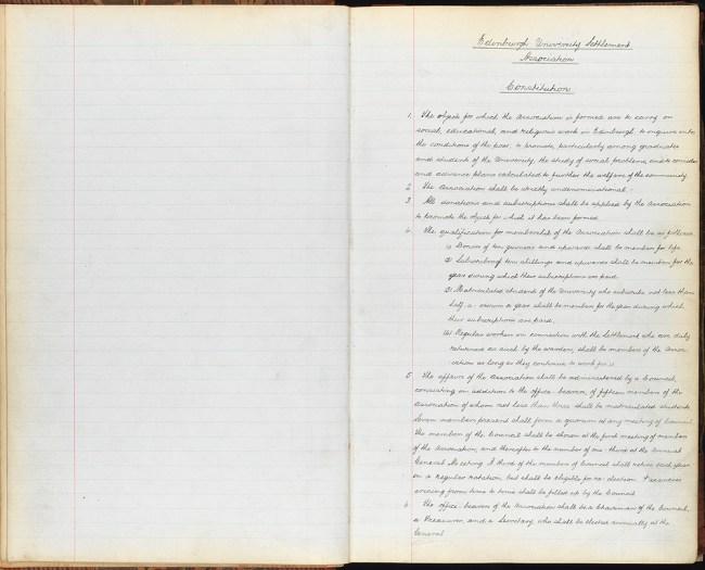 Edinburgh Settlement Constitution
