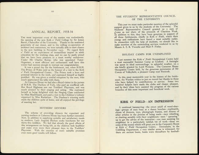 Annual Report of Edinburgh Settlement