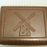 Chocolate coated biscuit