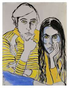 Alice Neel (1970) Hartley and Ginny. Courtesy of the Estate of Alice Neel