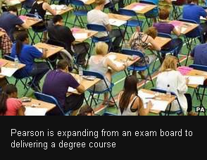 Publisher Pearson launches UK degree course By Sean Coughlan BBC News education correspondent