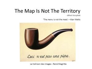 The menu is not the meal. – Alan Watts. La trahison des images - René Magritte.