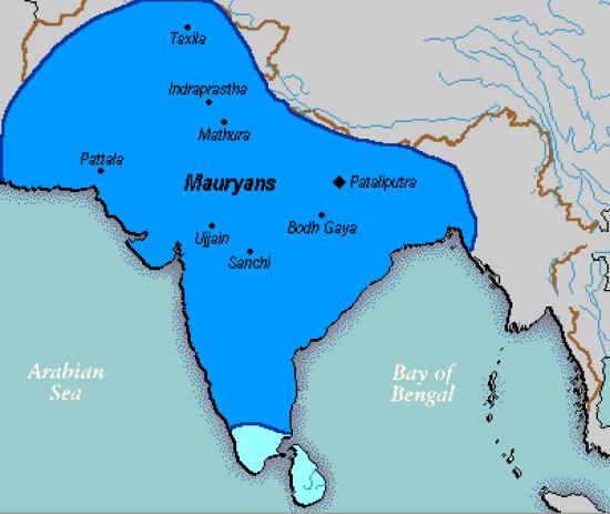 Mauryan Empire Map